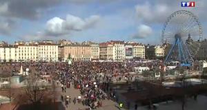 La Manif pour Tous de Lyon au 20 heures de TF1: «un cortège pacifique»