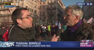 Manif Pour Tous du 2 février: Interview de Tugdual Derville par BFMTV